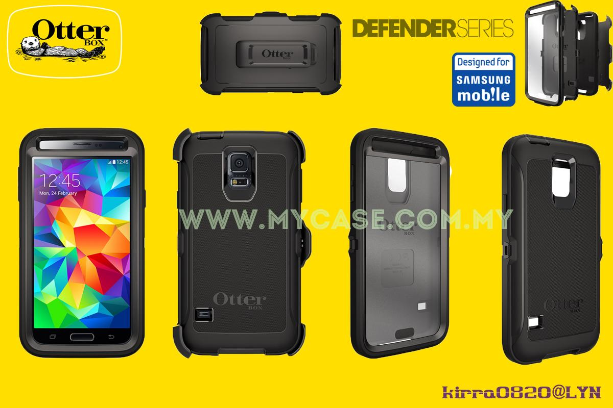 100% Ori Otterbox Samsung Galaxy S5 Defender Series Case Black
