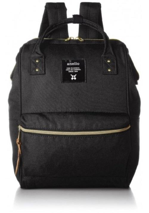 100% ORIGINAL ANELLO MINI POLYESTER BACKPACK - BLACK