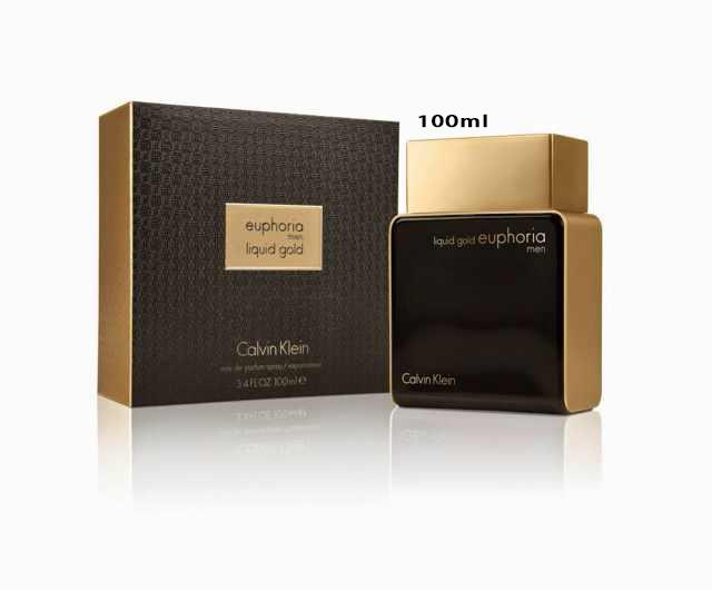 *100% Original Calvin Klein Liquid Gold Euphoria Perfume For Men 100ML