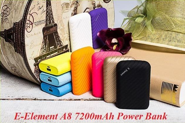 New 100% Original E Element A8 7200mAh Power bank