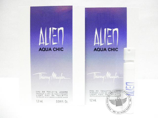 *100% Original Perfume Vials* TH Alien Aqua Chic 1.2ml Edt Spray x2