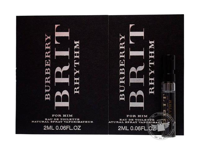*100% Original Perfume Vials*Brit Rhythm Intense For Men 2ml Edt x2