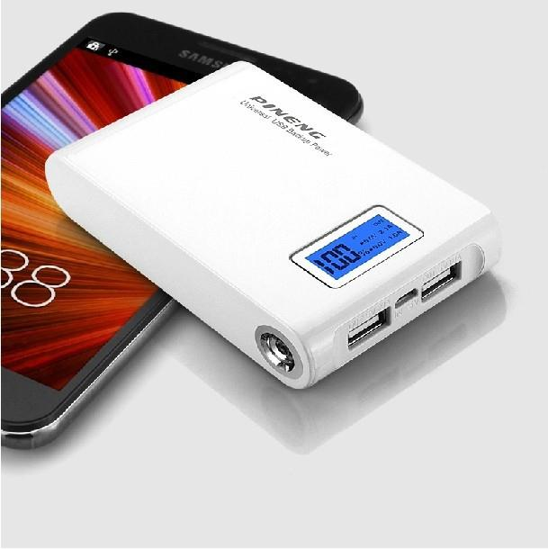100% Original Pineng� PN913 10000mah Power Bank White