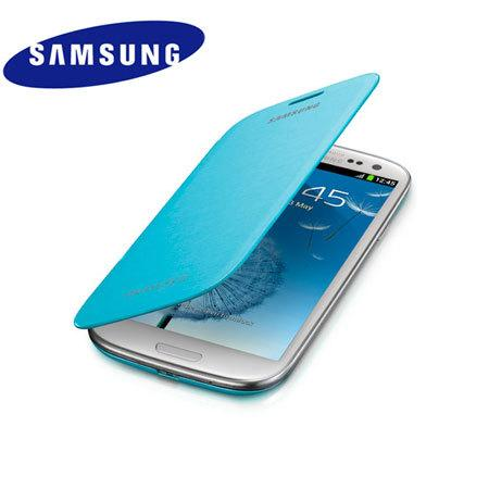 100% ORIGINAL Samsung Galaxy S3/ III Flip Cover Light Blue (Kuala