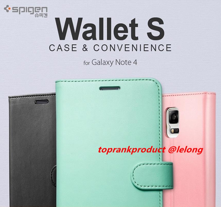 100% Original Spigen SGP Samsung Galaxy Note 4 Flip Case Cover Casing