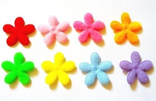 100 pcs plain felt Flowers Appliques Embellishment - Mix color - size