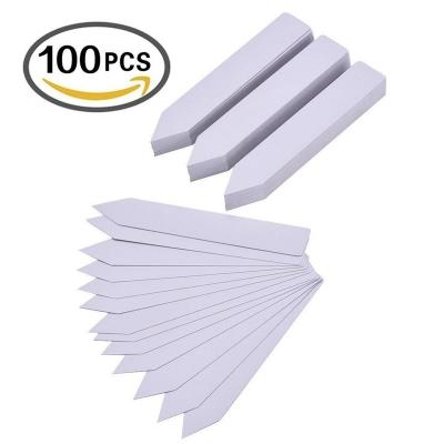 100 Pieces 1 * 6 Inch Plastic Plant Garden Labels Markers Garden Stake