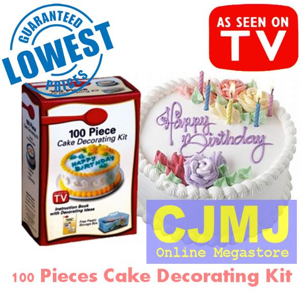 Cake Decor Kit : 100 Pieces Cake Decorating Kit - Gu (end 8/26/2016 12:00 AM)