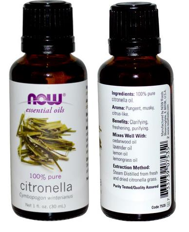 100% Pure Citronella Essential Oil, Made in USA (30ml)