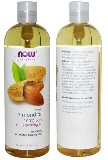 100% PURE Natural Sweet Almond Oil, Moisturizing Oil, USA (473ml)