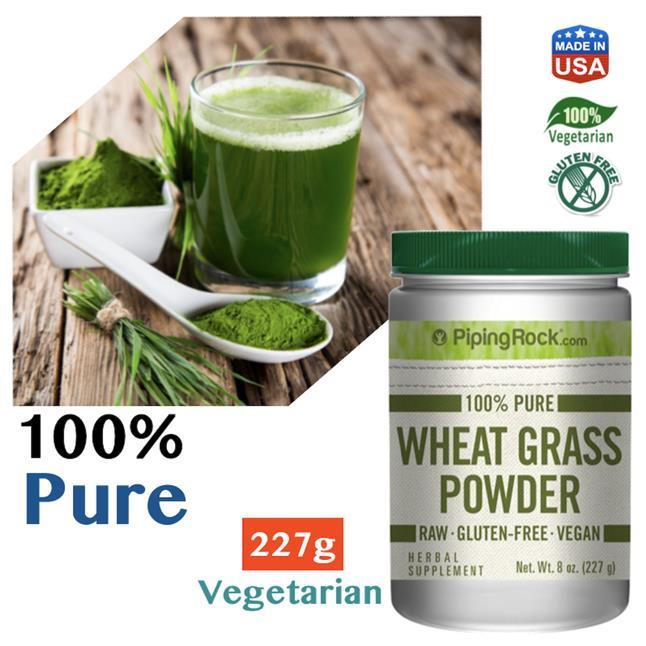100% Pure Wheat Grass Powder, 227g (Chlorophyll, Wheatgrass) USA