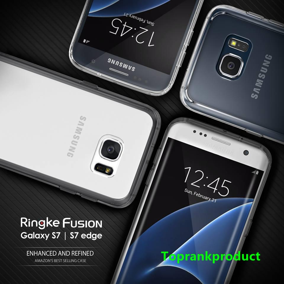 100% Rearth Ringke Samsung Galaxy S7 / Edge Fusion Case Cover Casing