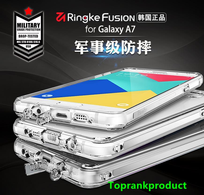 100% Ringke Samsung Galaxy A7 / 2016 Fusion Case Cover Casing + Gift