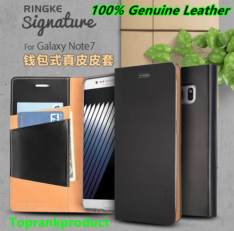 100% Ringke Samsung Galaxy Note 7 Genuine Leather Signature Case Cover