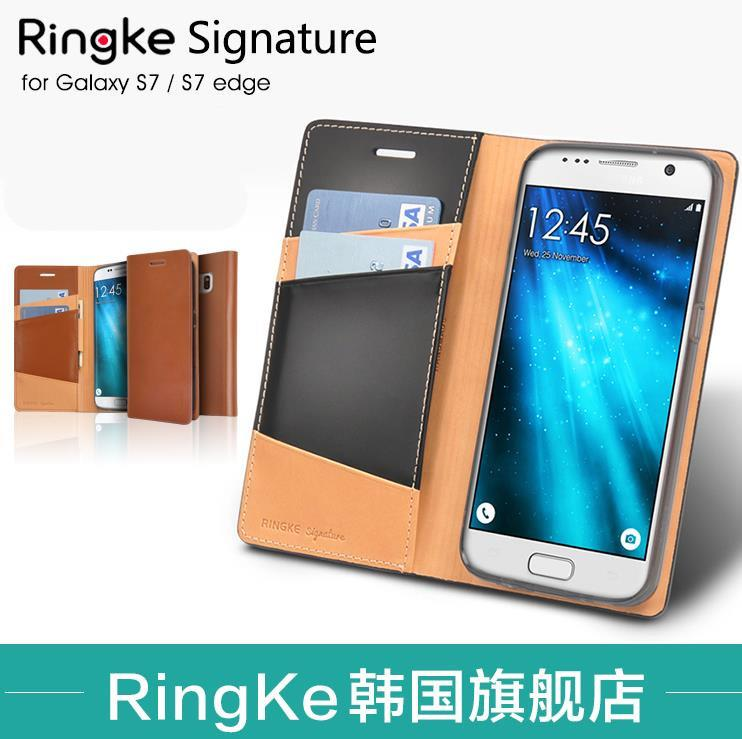 100% Ringke Samsung Galaxy S7 Edge Genuine Leather Case Cover Casing