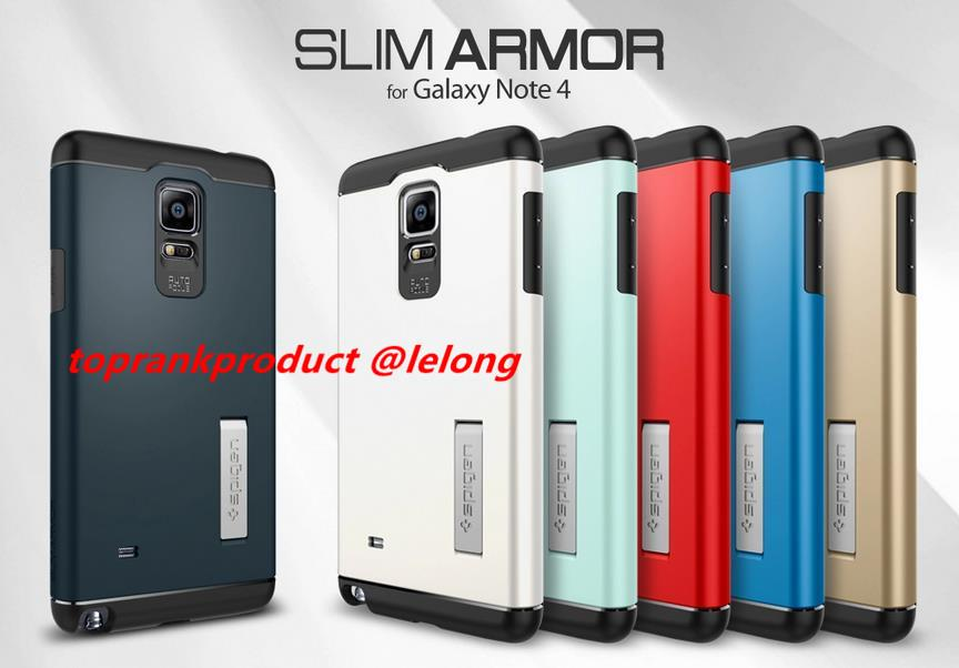 100% Spigen SGP Samsung Galaxy Note 4 Slim Armor Case Cover Casing