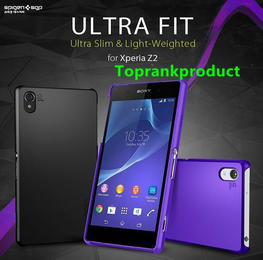 100% Spigen SGP Sony Xperia Z2 L50W Ultra Fit Case Cover Casing +Gift