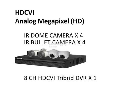 1000Series 720P 8CH  HD-CVI Packages