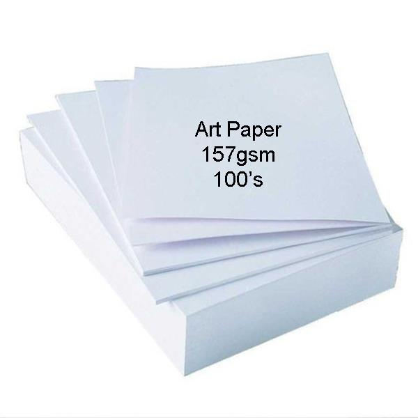 100pcs Art Paper 157gsm Double Side Glossy *Free Shipping