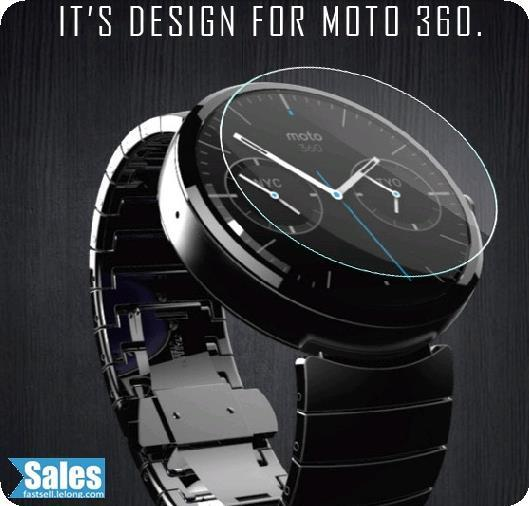 ➤ Moto 360 Tempered Glass Protection Film Screen Protector