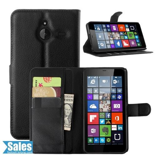 ➤ Nokia Lumia 640XL Leather Texture TPU Casing Case Cover