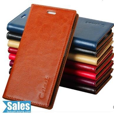 ➤ Samsung A8 Genuine Cow Leather Casing Case Cover