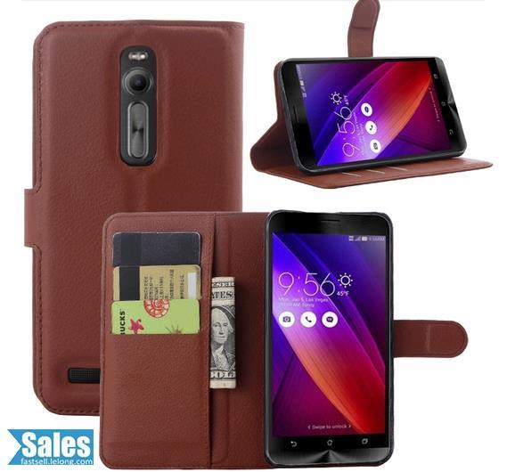 ➤ Zenfone 2 - 5.5 inch Leather Texture TPU Standing Casing Case
