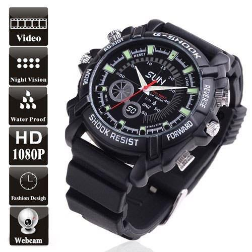 1080P IR Spy Watch DVR Night Vision 8G Water proof