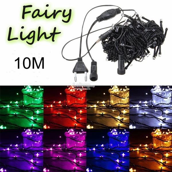 10M 100 LED String Fairy Light Outdoor Christmas Xmas Wedding Party
