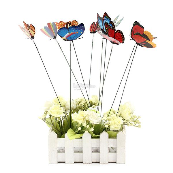 10pc butterfly on sticks garden vas end 1 28 2018 11 15 am for Art and craft pot decoration