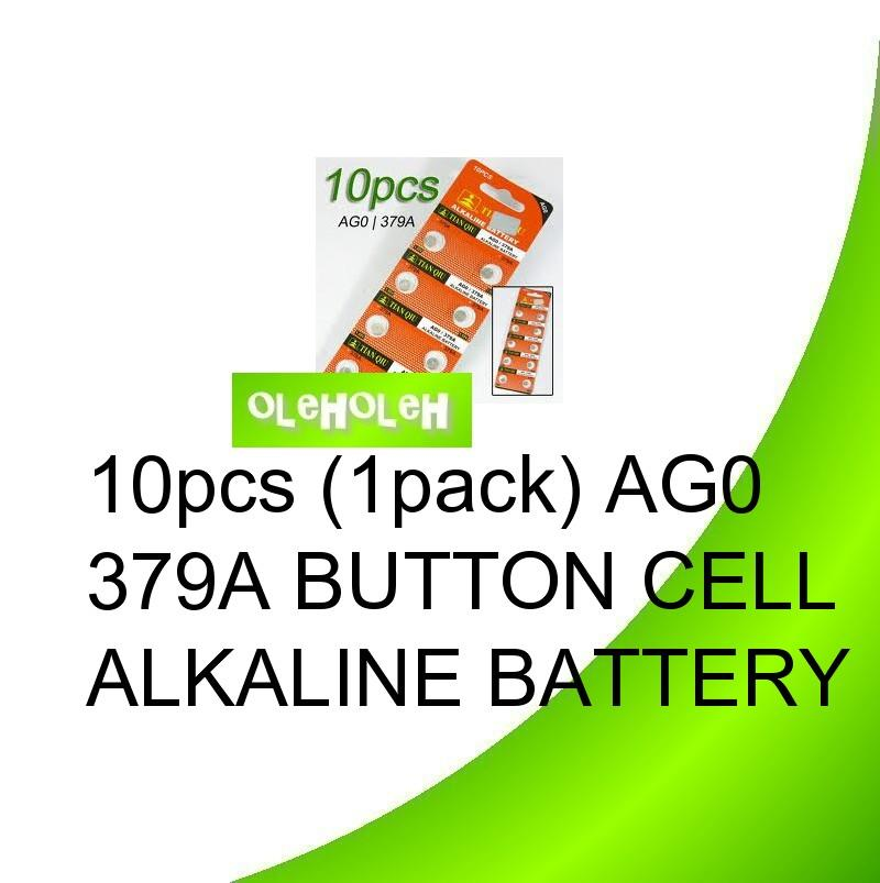10pcs (1pack) AG0 379A Button cell Alkaline Battery