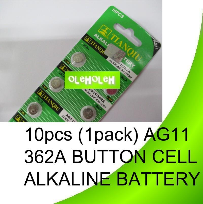 10pcs (1pack) AG11 362A Button cell Alkaline Battery