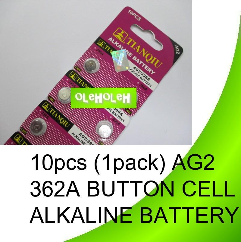 10pcs (1pack) AG2 362A Button cell Alkaline Battery