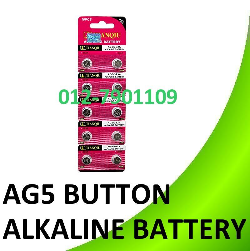 10pcs (1pack) AG5 393A Button cell Alkaline Battery