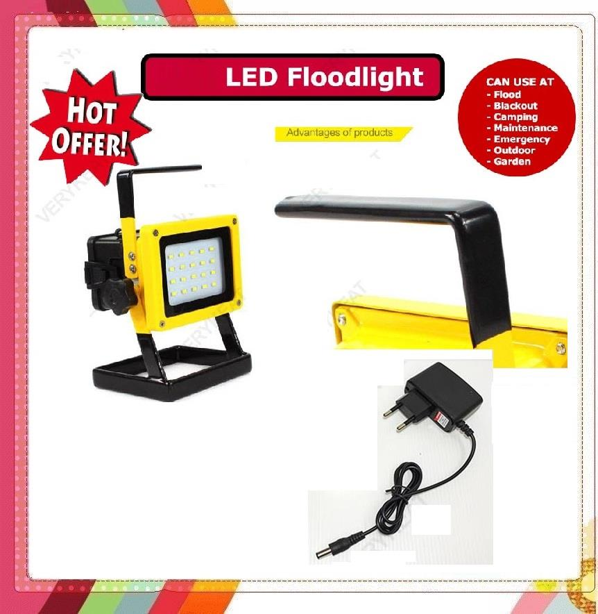 Led Flood Light Review 2017: 10W Rechargeable 18650 Emergency LED (end 7/29/2017 3:02 PM