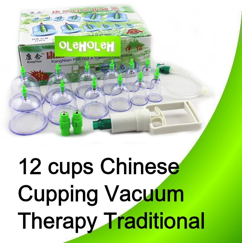12 cups Chinese Cupping Vacuum Therapy Traditional  Apparatus