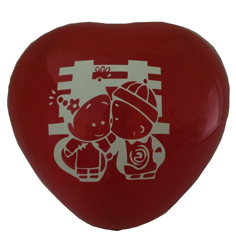 12 inch Heart Shape Red Balloon Wedding Couple 2 side Print Balloons