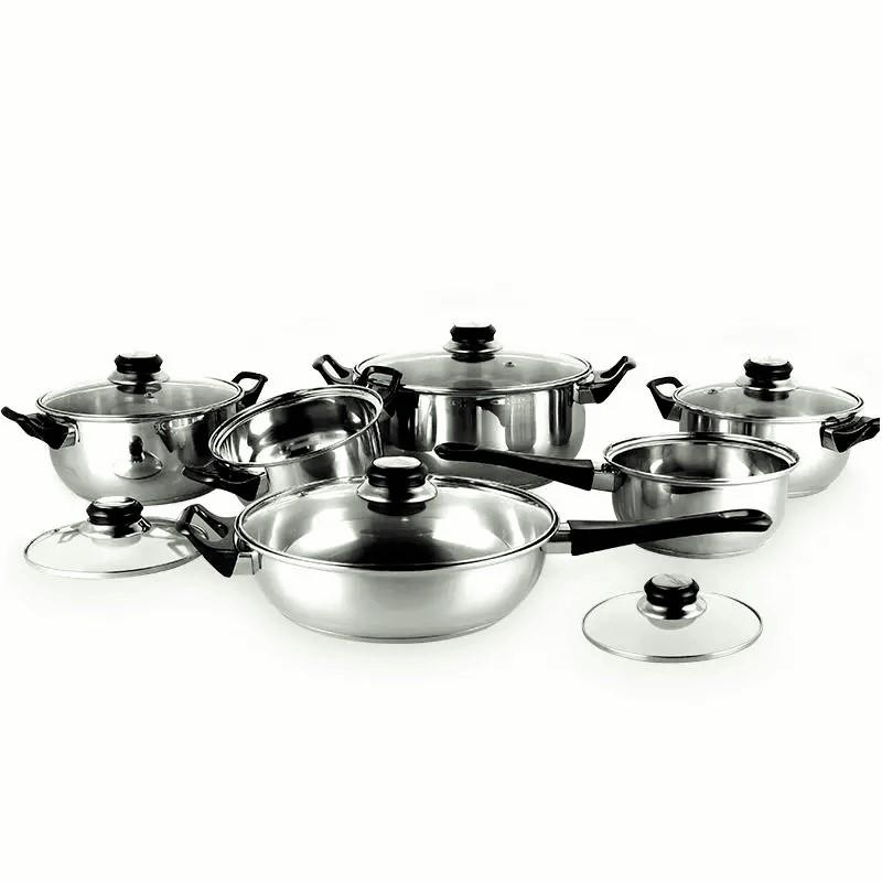 12-Pieces Stainless Steel Cookware Set (Stainless Steel)