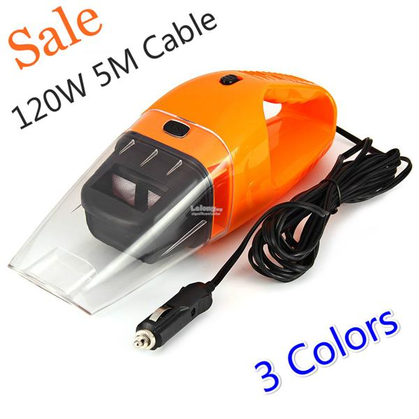 120W Portable car vacuum cleaner wet and dry dual use