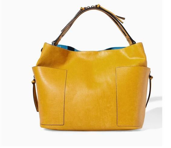 Zara Bright Yellow Shoulder Bag 10