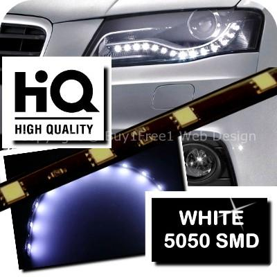 [1260] WHITE HQ 2740 IC 3 Chip 12 SMD 30cm LED Flexible Neon Strip Lig