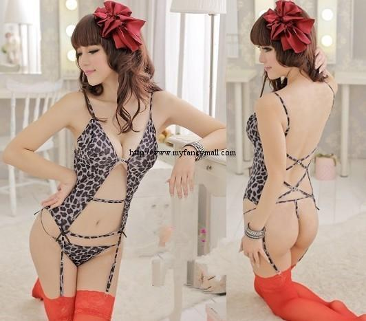 1267 Sexy Sleep Lingerie Underwear Pyjamas Nightwear Skirt+T