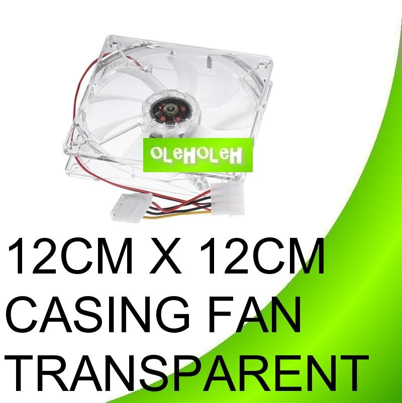 12cm x 12cm transparent casing fan with light