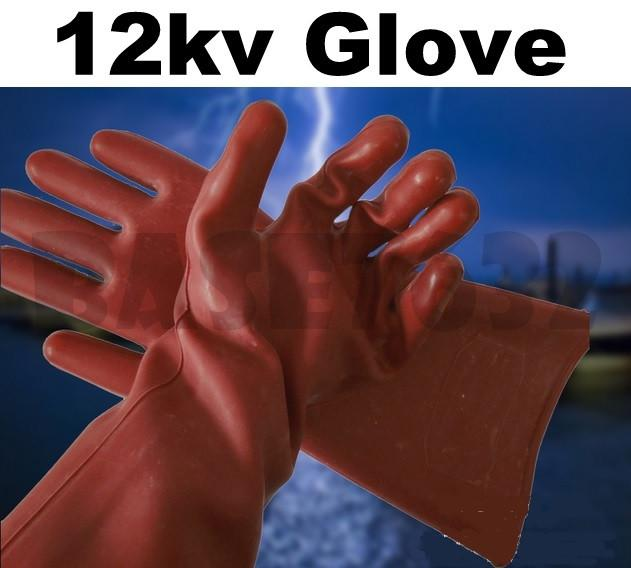 Testing High Voltage Rubber Gloves : Kv high voltage current electrical electric insulated