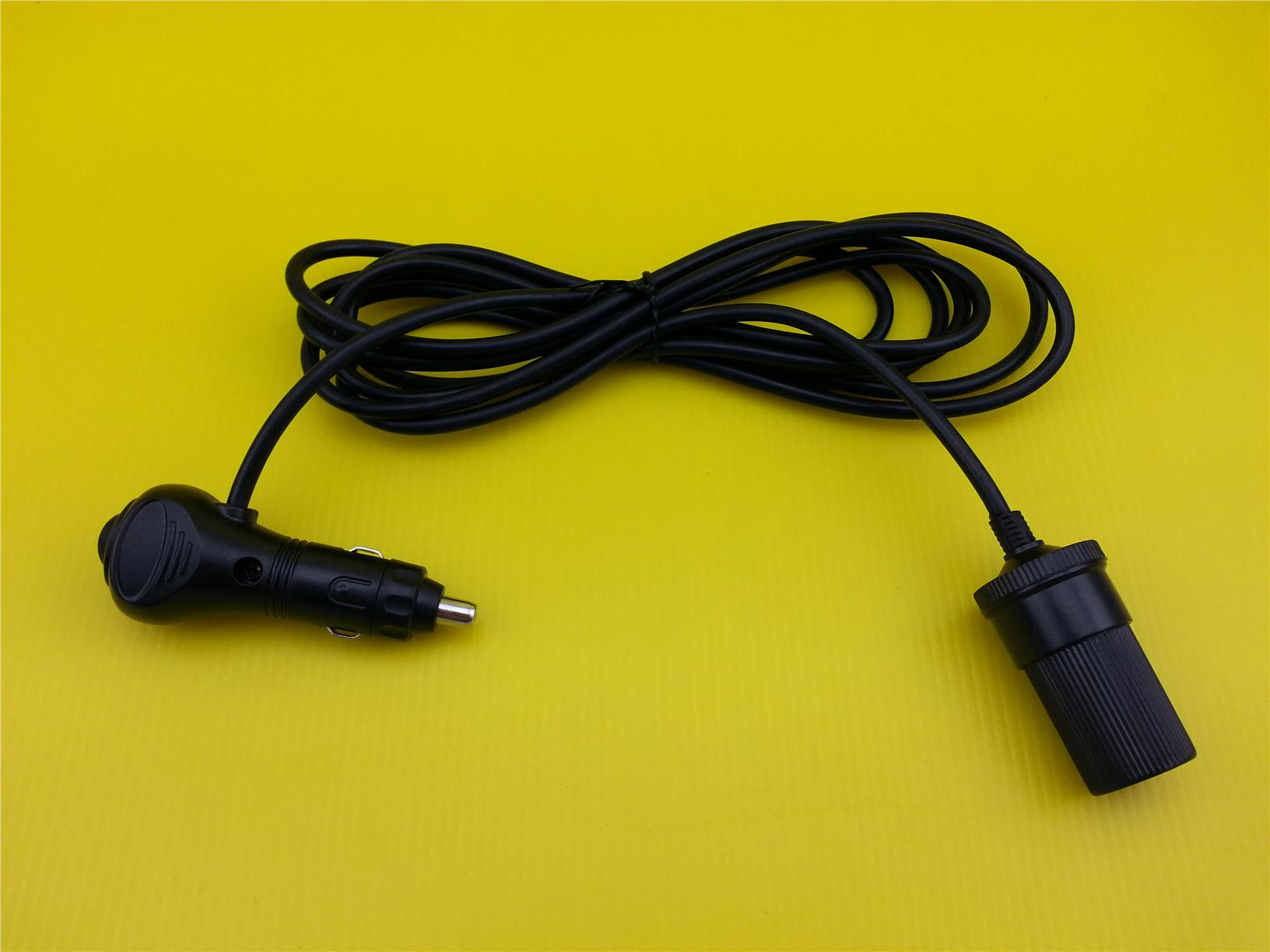 12V 15A 180W Car Cigarette Lighter Socket Extension Cord Cable With Sw