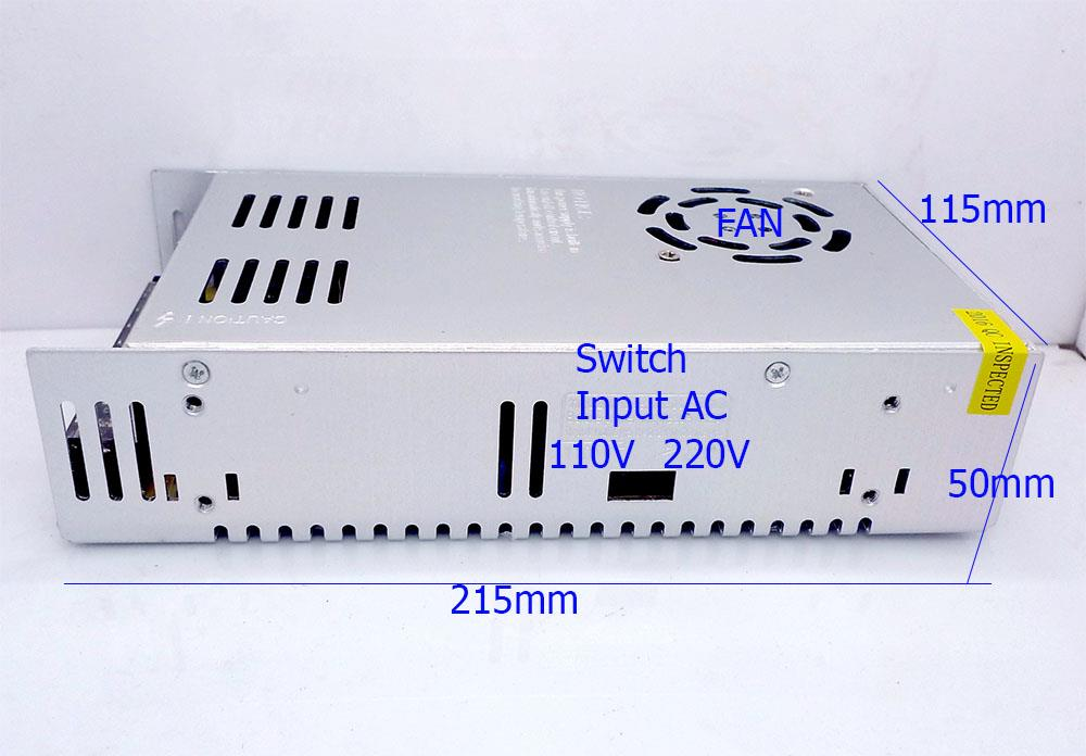 12V 30A Switching Power Supply Metal Casing LED CCTV Adapter Transform