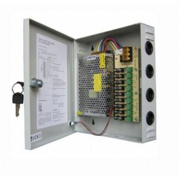 12V 9-Way CCTV Power Box / Power Supply Distribution Panel (12V 10A)