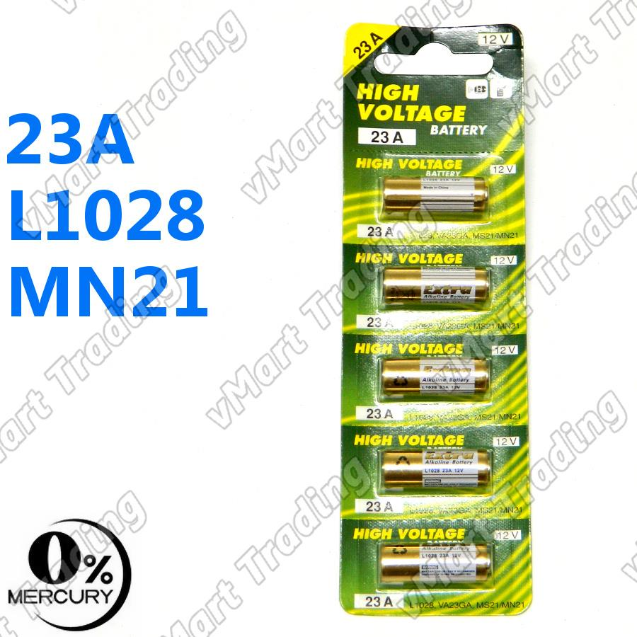 12V A23/MN21/1181A/L1028/LRV08 Alkaline Battery [5 pieces]