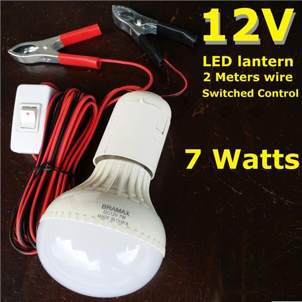 12V LED Light 2M wire Switch control Camping Fishing Pasar Malam KIT