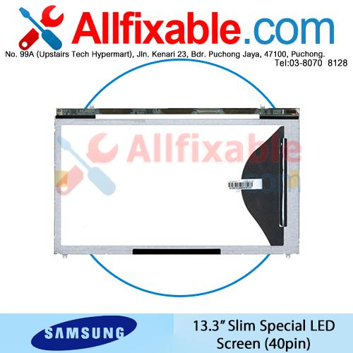 """13.3"""" Slim Special LED LCD (40pin) Screen For Samsung NP530U3B"""